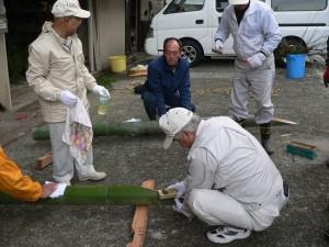 12月の行事写真「門松作成」